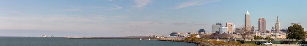 Cleveland Skyline with Lake Erie