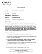 Thumbnail image of CSR position description. Click to download actual.