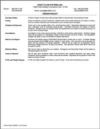 Kraft Fluid Systems - order policy